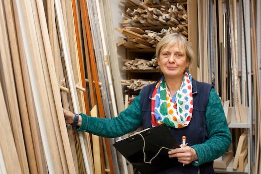 Marid Taubert, Geschäftsführerin der Galerie Tobien, Husum
