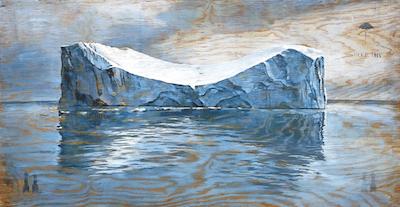 Christoph Pöggeler, Eisberg, Lithografie, handsigniert und nummeriert, Auflage: 40, Größe: 53 x 100 cm